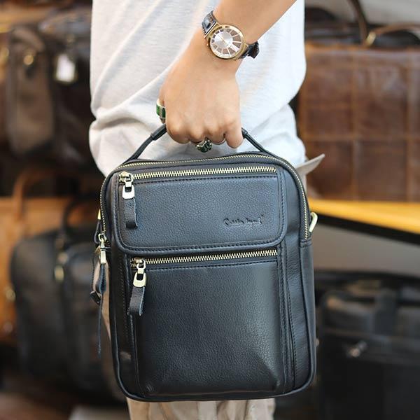 Túi đeo chéo nam có tay xách thời trang Lano cao cấp KT145 xách tay