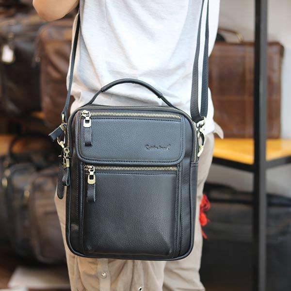 Túi đeo chéo nam có tay xách thời trang Lano cao cấp KT145 đeo chéo