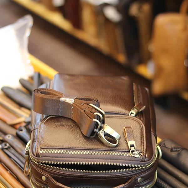 Túi đeo chéo nam có tay xách thời trang Lano cao cấp KT145 dây đeo