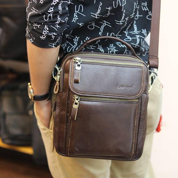 Túi đeo chéo nam có tay xách thời trang Lano cao cấp KT145