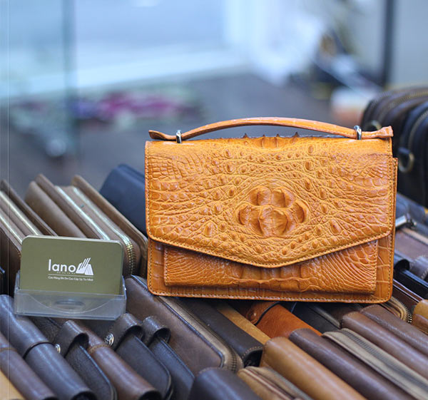 Túi xách đeo chéo nữ Lano da cá sấu cao cấp loại nhỏ TCSN01