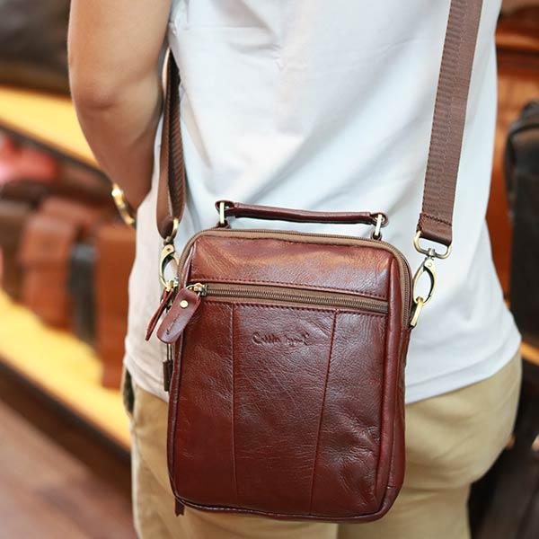 Túi xách nam Lano mini da bò thật cao cấp KT146