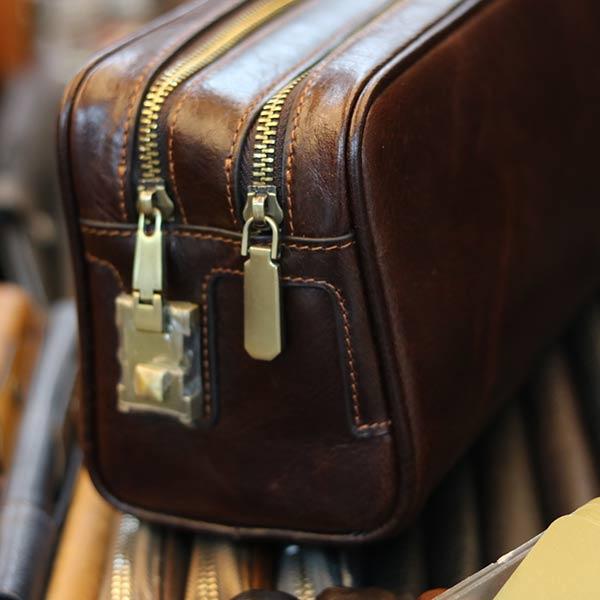 Túi cầm tay nam dạng hộp Lano da bò thật xách tay cao cấp CLT20 khoá số