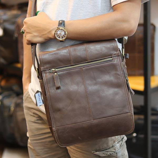 Túi da đeo chéo đựng iPad Lano thời trang cao cấp KT151 đeo chéo