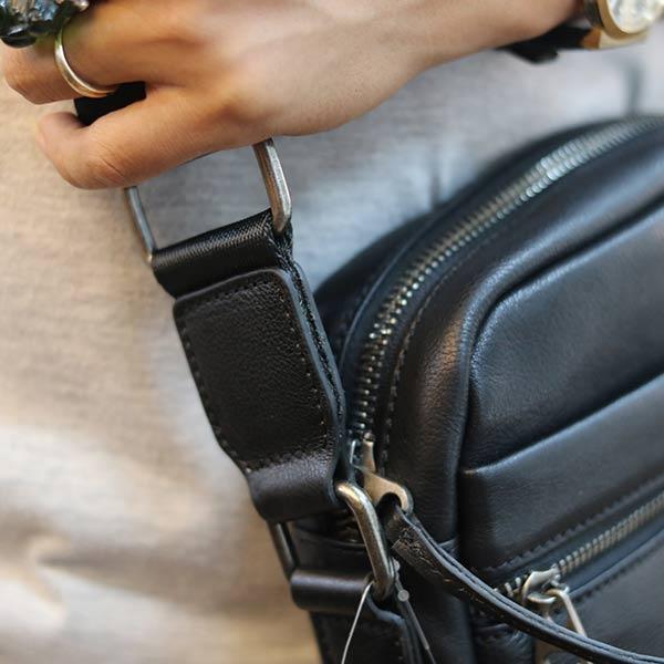 Túi da đeo chéo nam Lano KT153
