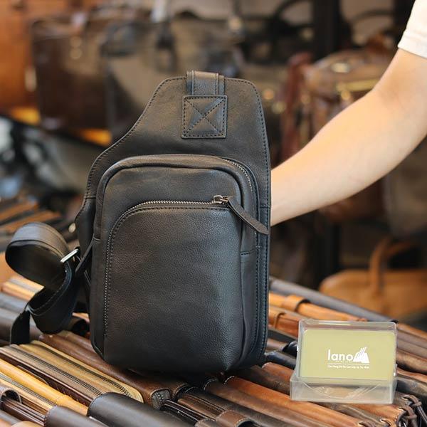 Túi da đeo chéo ngực Lano gọn gàng tiện lợi TDL60