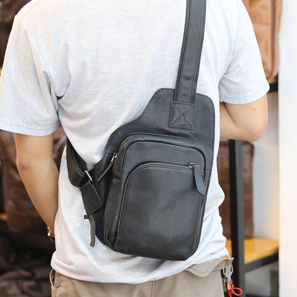 Túi da đeo chéo ngực Lano gọn gàng tiện lợi TDL60 đeo chéo