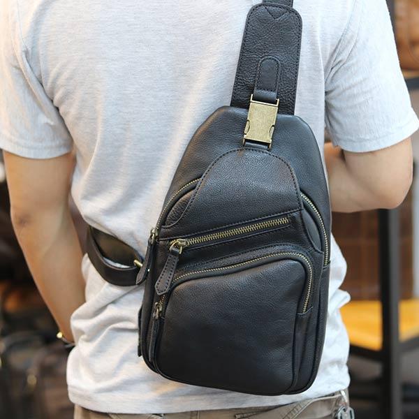 Túi da đeo ngực nam thời trang sang trọng da bò nhập khẩu TDL58 đeo chéo