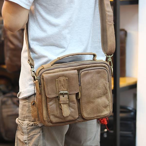 Túi da nam đeo chéo có quai xách thời trang tiện lợi KT150 đeo chéo