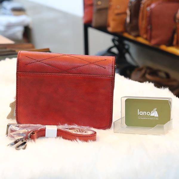 Túi da nữ đeo chéo Lano cao cấp Handmade TXN030 mặt sau