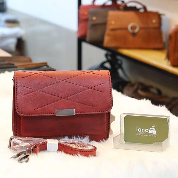 Túi da nữ đeo chéo Lano cao cấp Handmade TXN030