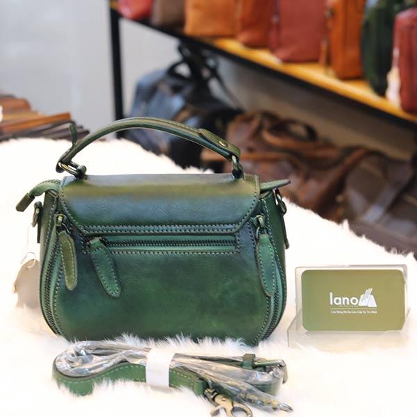 Túi da nữ mini cao cấp xách tay Handmade TXN020 mặt sau