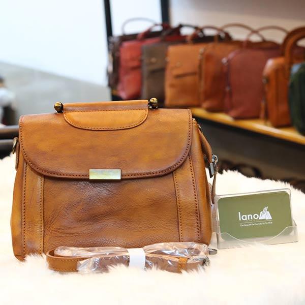 Túi da nữ xách tay Handmade TXN028