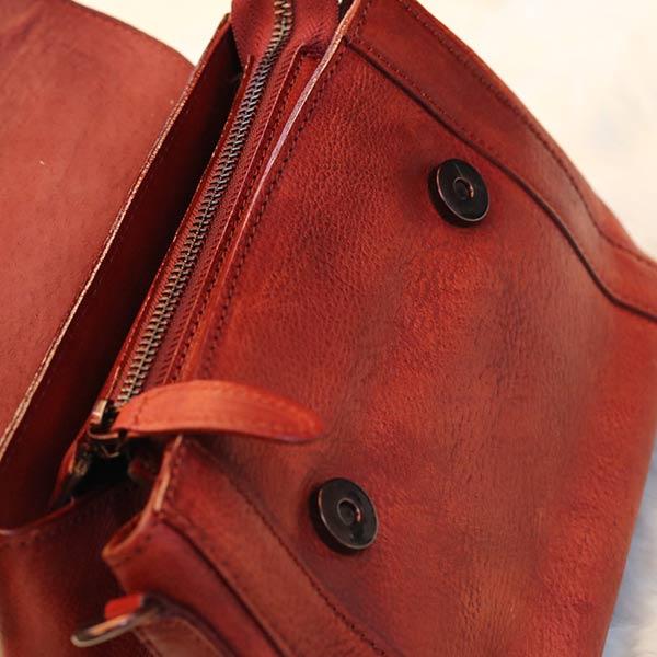 Túi da nữ xách tay Handmade TXN028 ngăn trong