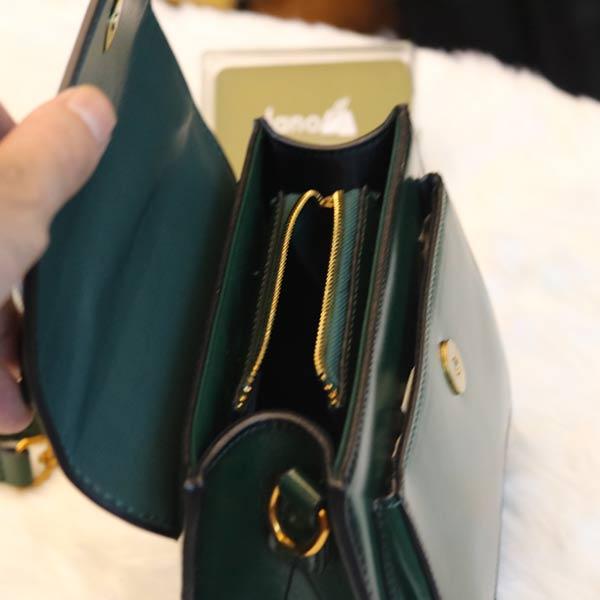 Túi xách nữ bóng TXN033 ngăn trong