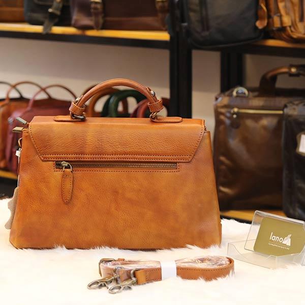 Túi xách nữ Lano cao cấp da thật Handmade TXN025 mặt sau