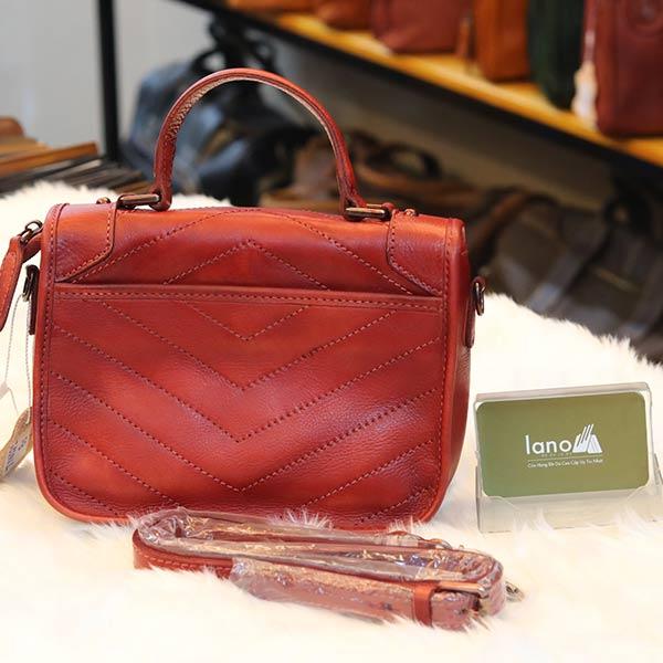 Túi xách nữ Lano cao cấp Handmade TXN021 mặt sau
