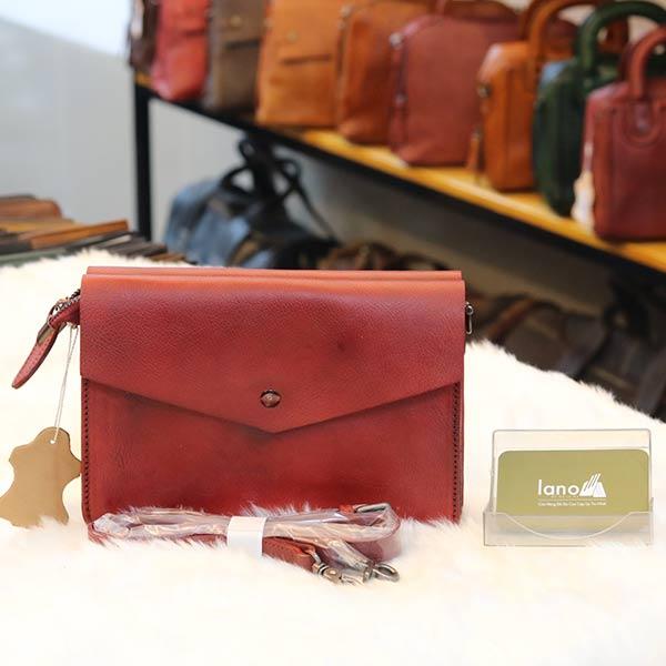 Túi xách nữ Lano da thật Handmade TXN024 mặt sau