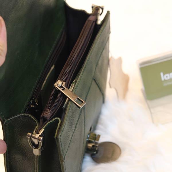 Túi xách nữ Lano khuy tròn da bò thật TXN029
