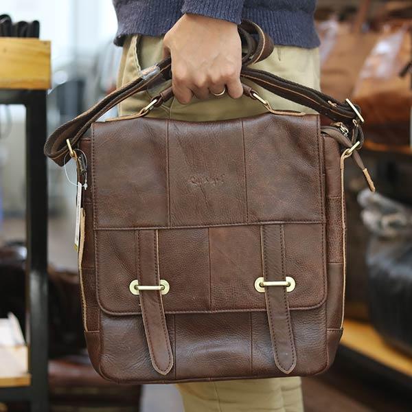 Túi da nam đeo chéo Lano đựng iPad KT157