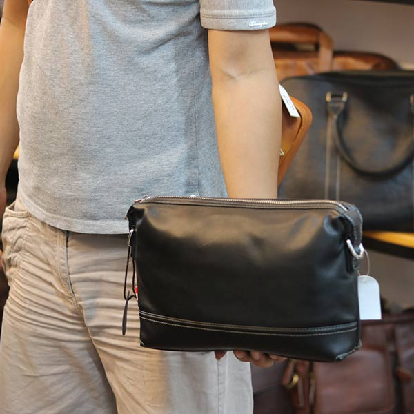 Túi da nam Lano đeo chéo có tay cầm KT155