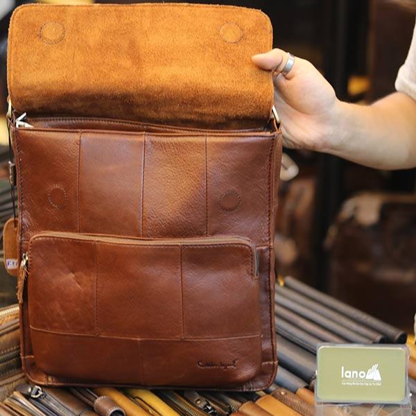 Túi đeo chéo nam da bò Lano thời trang KT156