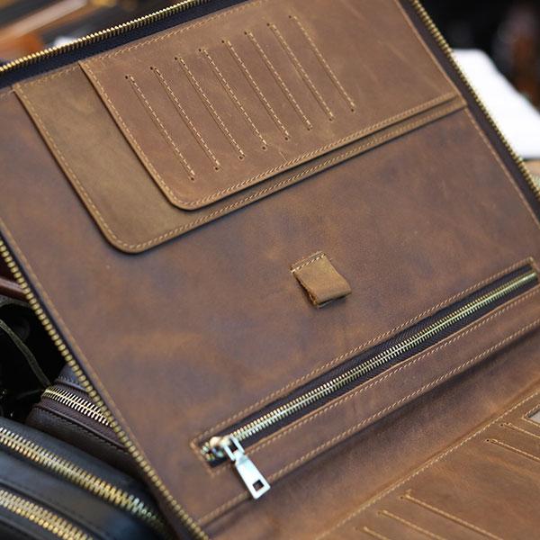 Túi da nam cầm tay đựng iPad 10.5 inch sang trọng gọn nhẹ