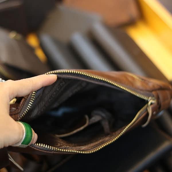 Túi da nam đeo chéo ngực thời trang tiện lợi mẫu mới 2019 TDL62