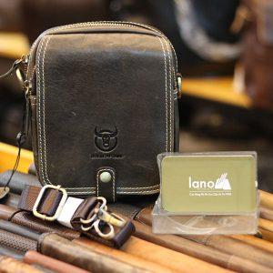 Túi da mini nam đựng điện thoại vật dụng cá nhân Lano KT163