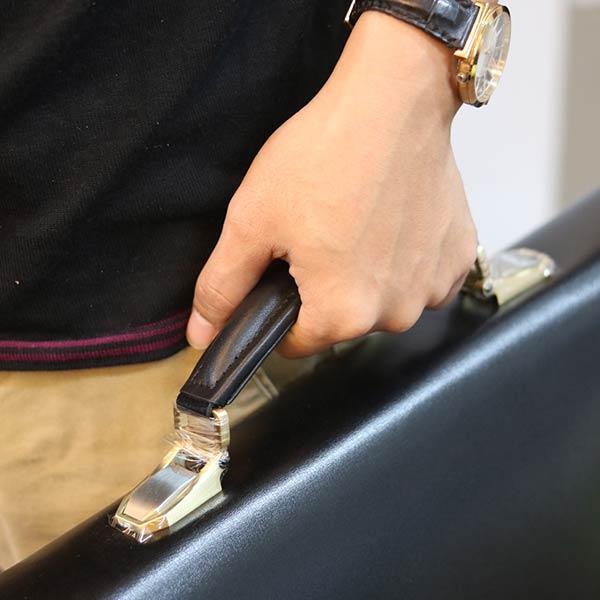 Cặp da nam khóa số cao cấp làm từ da bò Ý CD104
