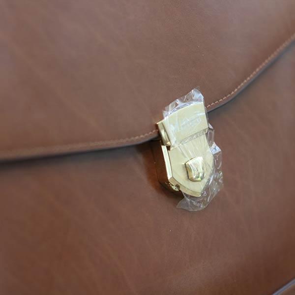 Cặp da nam khóa số công sở cao cấp từ da bò Ý CD105