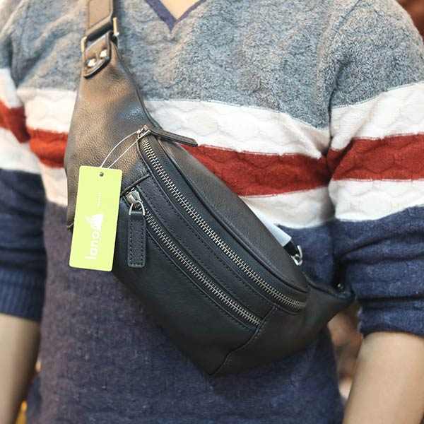 Túi bao tử da bò nam thời trang đeo chéo TDB106