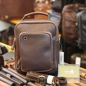 Túi da đeo chéo thời trang phong cách bụi bặm KT176