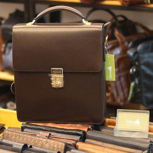 Túi da nam công sở khóa số cao cấp mẫu mới 2019 KT169