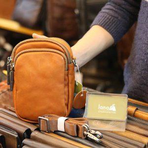 Túi da nam đeo chéo, gài thắt lưng nhỏ gọn tiện lợi KT172