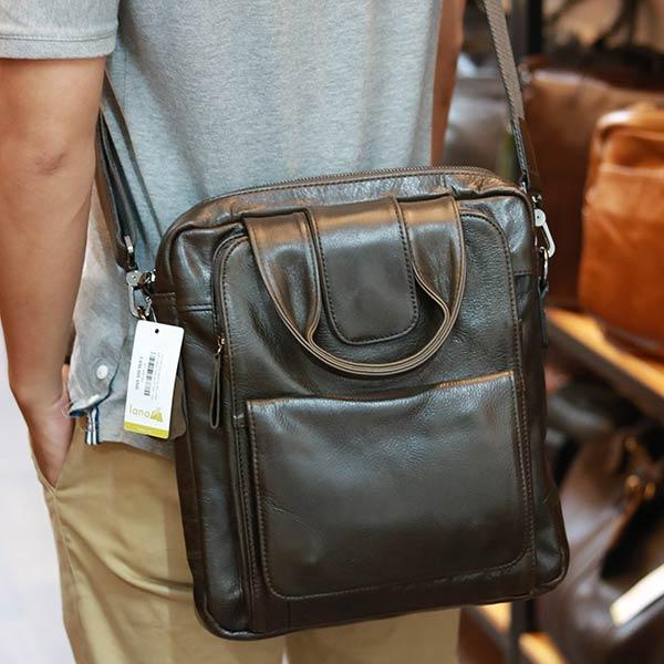 Túi da nam xách tay đeo chéo kiểu dáng công sở KT168