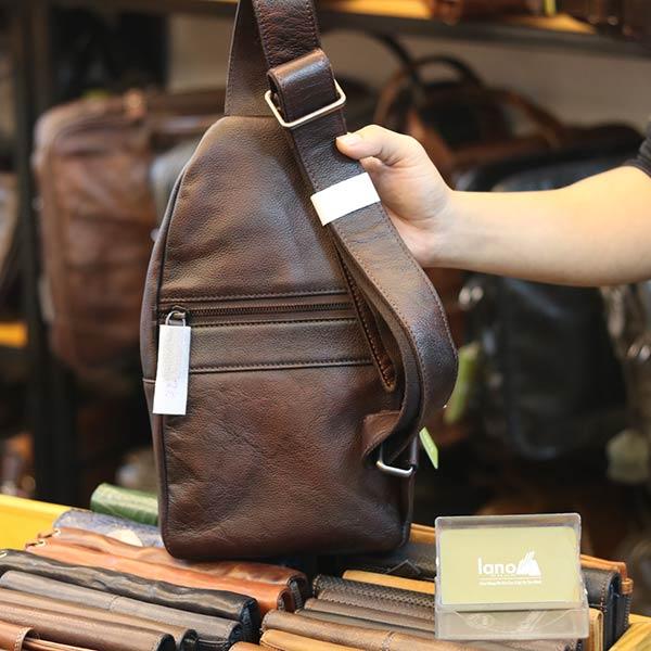 Túi đeo ngực nam da bò nhập khẩu mẫu mới độc lạ TDL72