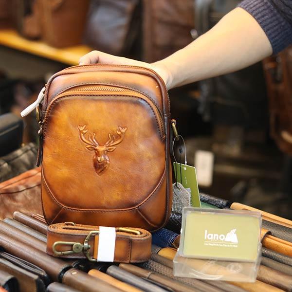 Túi đeo ngực sling kết hợp đeo chéo da bò thật thời trang cao cấp TDL74