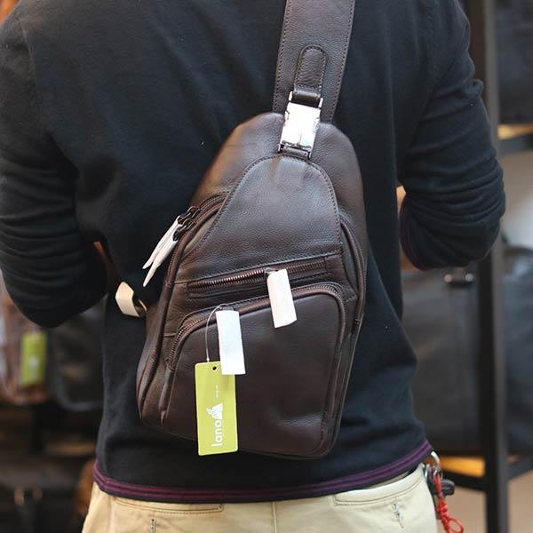 Túi đeo trước ngực nam da bò cao cấp khỏe khoắn tiện lợi TDL69