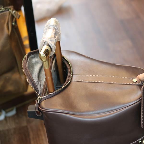 Túi du lịch nam chuyên dụng da bò loại to có bánh xe TT21