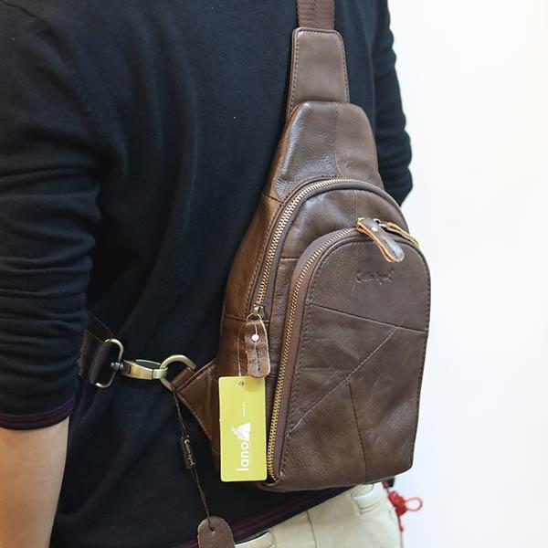 Túi Sling da bò đeo trước ngực mẫu mới 2019 TDL67