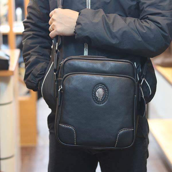 Túi đeo chéo nam da bò thật thời trang công sở mẫu mới 2020