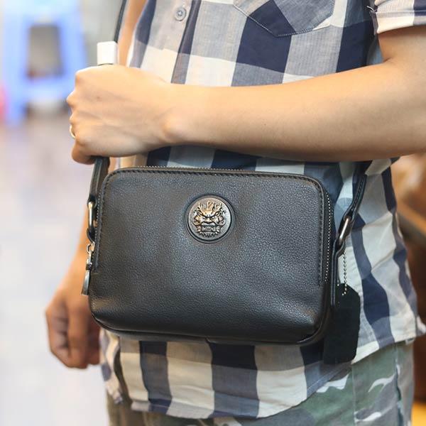 Túi đeo chéo nam mini da bò nhỏ gọn tiện lợi KT182