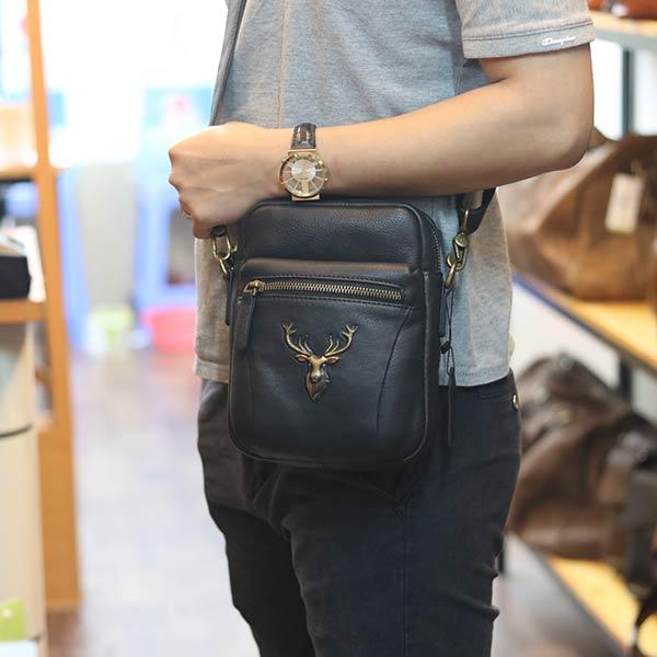 Túi da nam đeo chéo kết hợp sling nhỏ gọn tiện lợi mẫu mới 2020 TDL76