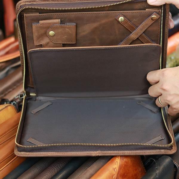 Túi cầm tay nam da bò sáp đựng iPad CLT43