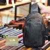 Túi da đeo ngực sling bag nhỏ gọn tiện lợi Lano TDL79