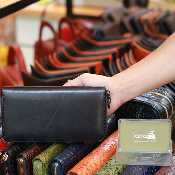 Ví da nam cầm tay thời trang tiện dụng Lano VCTN074