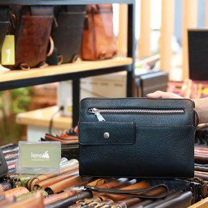 Clutch túi cầm tay da bò cao cấp thời trang sang trọng Lano CLT50