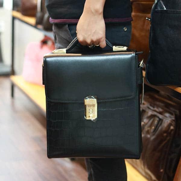 Túi da công sở kết hợp xách tay da bò cao cấp KT191