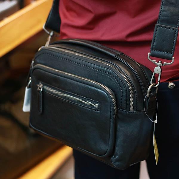 Túi đeo chéo nam có tay xách da bò cao cấp lano KT188